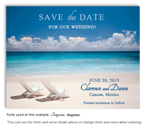 Beach Save the Date Wedding Magnet