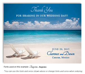 Beach Thank You Wedding Magnet