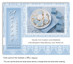 Blue Celebration Thank You Baptism | Christening Magnet