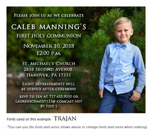 Color Invitation Communion Photo Magnet