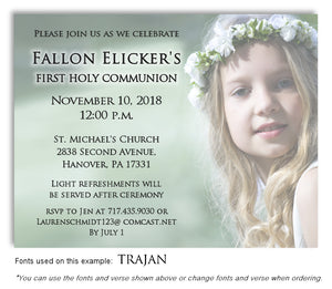 Faded Invitation Communion Photo Magnet