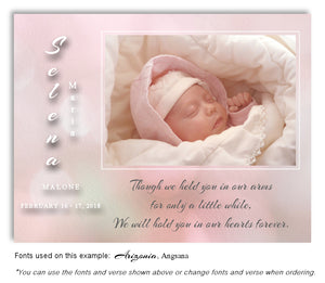 Light Pink Photo Memorial Magnet