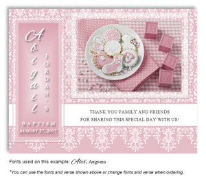 Pink Celebration Thank You Baptism | Christening Magnet