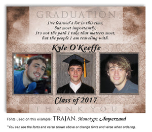 Tan Thank You Photo Graduation Magnet