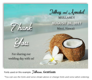 Tropical Thank You Wedding Magnet