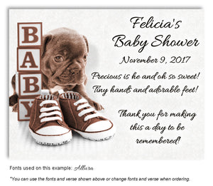 Brown Puppy Love Thank You Baby Shower Magnet