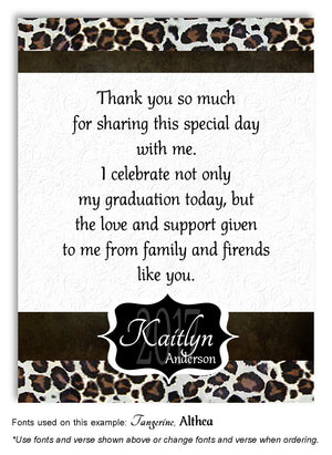 Leopard Thank You Graduation Magnet