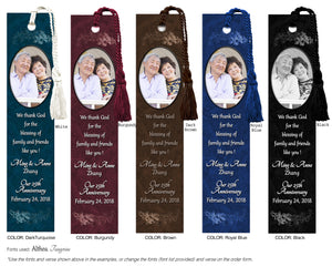 Swirl Wedding Photo Bookmark