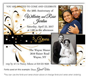 50th-Black-Gold-White-Modern-Invitation-Photo-Anniversary-Magnet-3