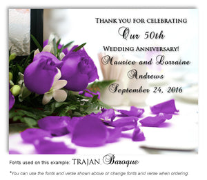 50th Purple Roses Thank You Anniversary Magnet