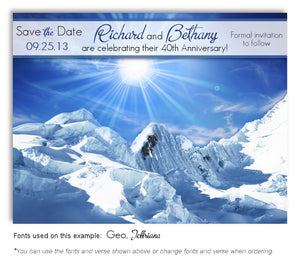 Day Winter Splendour Save the Date Anniversary Magnet