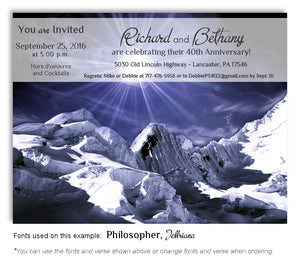 Evening Winter Splendour Invitation Anniversary Magnet