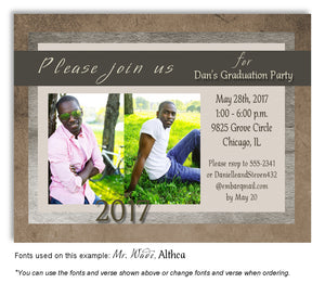 Browns Invitation Photo Graduation Magnet