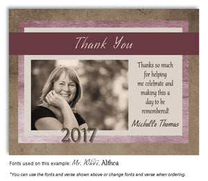 Browns and Pinks Thank You Photo Graduation Magnet
