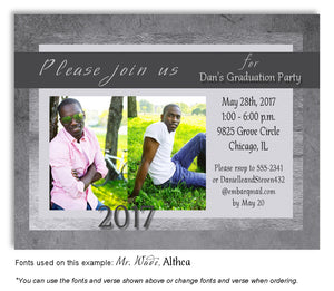 Grays Invitation Photo Graduation Magnet