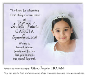 Lavender Thank You Communion Photo Magnet