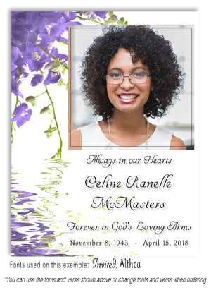 Lavender Reflections Photo Memorial Magnet