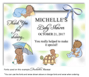 Multicolor2 Dark Baby Days Thank You Baby Shower Magnet