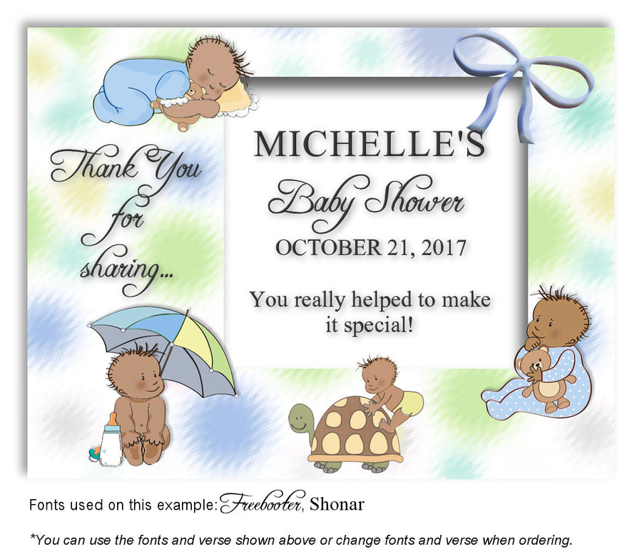 Multicolor1 Baby Days Thank You Baby Shower Magnet