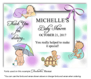 Multicolor3 Baby Days Thank You Baby Shower Magnet