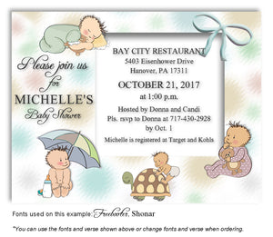 Multicolor4 Baby Days Invitation Baby Shower Magnet
