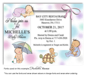 Multicolor5 Baby Days Invitation Baby Shower Magnet