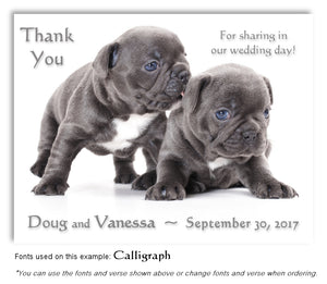 Puppy Love Thank You Wedding Magnet