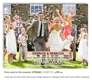 Salmon Thank You Wedding Photo Magnet