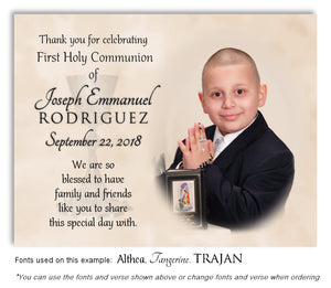 Tan Thank You Communion Photo Magnet