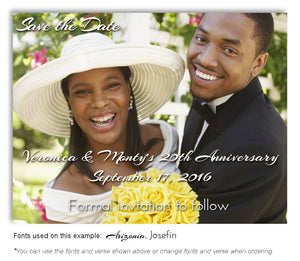Color Save the Date Photo Anniversary Magnet