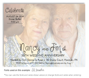 Color Faded Invitation Photo Anniversary Magnet