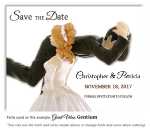Blonde-Black-Hair-Save-the-Date-Humorous Wedding Magnet