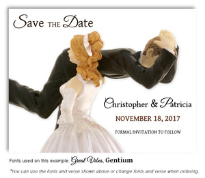 Blonde-Dark-Blonde-Hair-Save-the-Date-Humorous Wedding Magnet