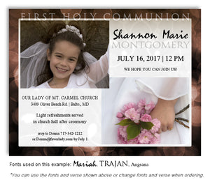 Brown Invitation Communion Photo Magnet