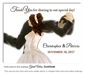 Dark-Brown-Hair-Thank-You-Humorous Wedding Magnet