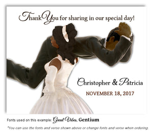 Dark-Skin-Black-Hair-Thank-You-Humorous Wedding Magnet