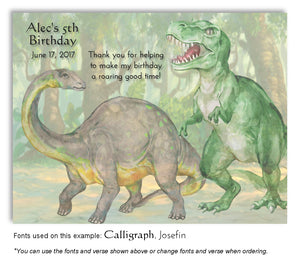 Dinosaur Birthday Magnets - 7