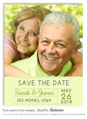 Lime Green Save the Date Wedding Photo Magnet