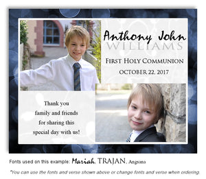 Navy Thank You Communion Photo Magnet
