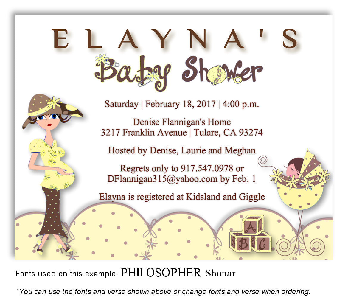 Mommy and me baby shower magnets 7 favorlady yellow mommy and me invitation baby shower magnet filmwisefo