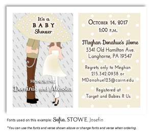 Wheat Parents Invitation Baby Shower Magnet
