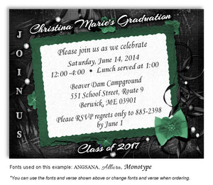 Ribbons and Pearls Graduation Magnets - 8