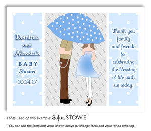 Blue Parents Thank You Baby Shower Magnet