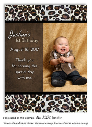 Brown Leopard Thank You Birthday Photo Magnet