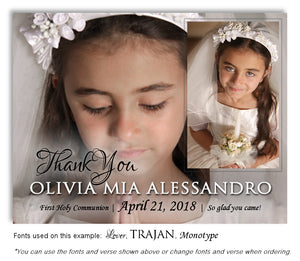 Color Thank You Communion Photo Magnet