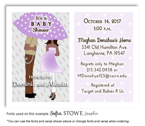 Lavender Parents Invitation Baby Shower Magnet