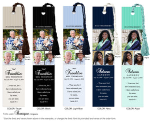 Collage Memorial Photo  Bookmark (Book Mark)