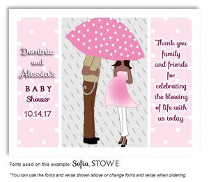 Pink Parents Thank You Baby Shower Magnet