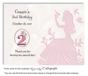 Pink Princess Thank You Birthday Magnet