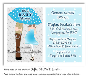 Sky Blue Parents Invitation Baby Shower Magnet